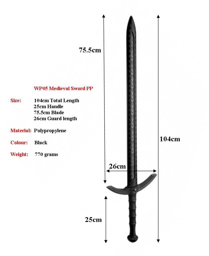 Medieval 104cm Sparring Longsword Pp Giri Martial Arts