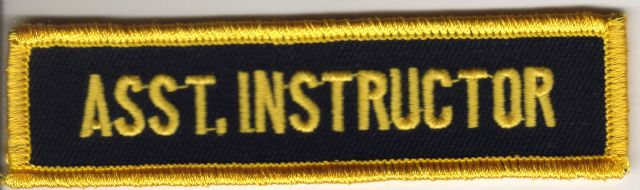 Asst. Instructor Badge (Black and Yellow)