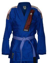 Warrior Pro Label BJJ Blue Kimono Platinum Weave