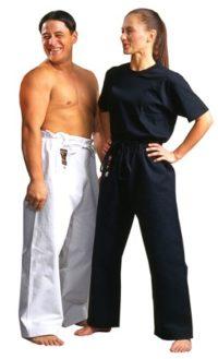 Warrior Meijin 'Gold Label' White Canvas Pants