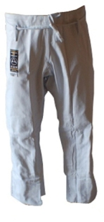 Warrior White Pro Label BJJ Pants