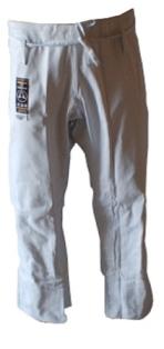 Warrior White Pro Label BJJ Pants