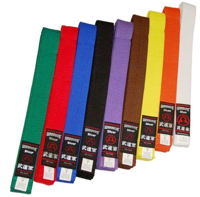 Warrior Coloured Belts