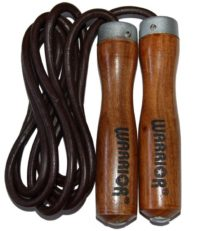 Warrior 6mm Leather Skipping Rope 9ft