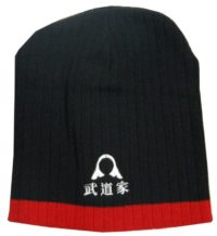 Warrior Beanie Blk/Red with Helmet &  Kunji Logo