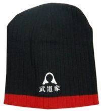 Warrior Beanie Blk/Red with Helmet &  Kunji Logo