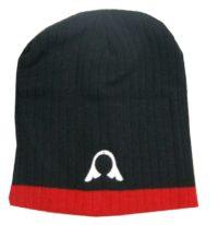 Warrior Beanie Blk/Red with Helmet Logo