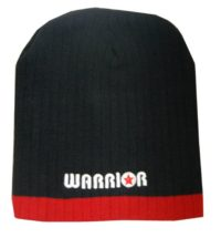 Warrior Beanie Blk/Red Warrior Logo
