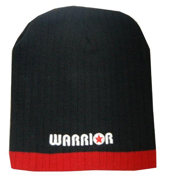 Warrior Beanie Blk/Red Warrior Logo