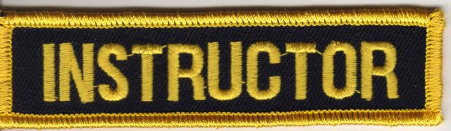 Instructor Badge (Black and Yellow