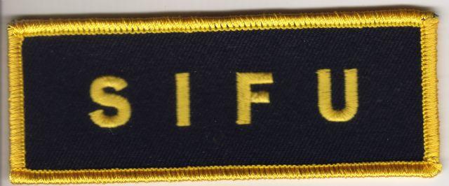 Sifu Badge (Black and Yellow)