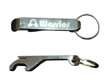 Warrior Aluminum Bottle Opener Key Ring