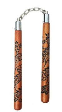 WN06E Carved Wood Nunchaku - Copy