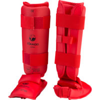 Tokaido-WKF-Approved-Shin-Instep-Red