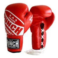 red-competition-lace-up-boxing-gloves
