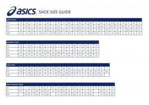 Asics Shoe Size Guide - Giri Martial